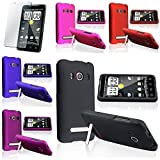 5x New Rubber Hard Case Cover FOR Sprint HTC EVO 4G + LCD Filter