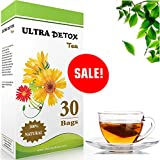 ULTRA DETOX #1 Detox Natural Herbal Tea for weight loss  Boosts metabolism  mild laxative & reduces constipation rapidly  Cleanse Your Body  Reduces Bloating   Support and helps weight loss  GET THE FULL EFFECT:   Green Tea Boosts Metabolism and ...
