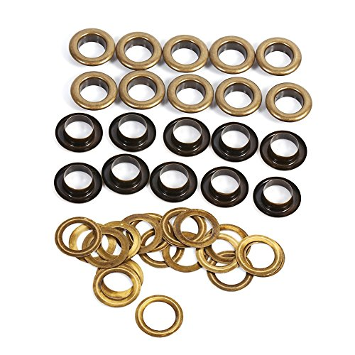 Antique Shoe (12mm Antique Brass Eyelet Grommets Kit With Washers For Leather, Canvas, Clothes, Shoes, Belts, Bags, DIY Crafts, 20sets)