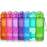 48oz good drinking water - Sports Water Bottle Plastic Drinking Bottles BPA Free Leakproof with filter&time marker&Scratch Resistant,Flip Top With 1 Click Reusable For Kids,400/500/700ml/1L,48oz,for Outdoor,Cycling,Camping,Gym