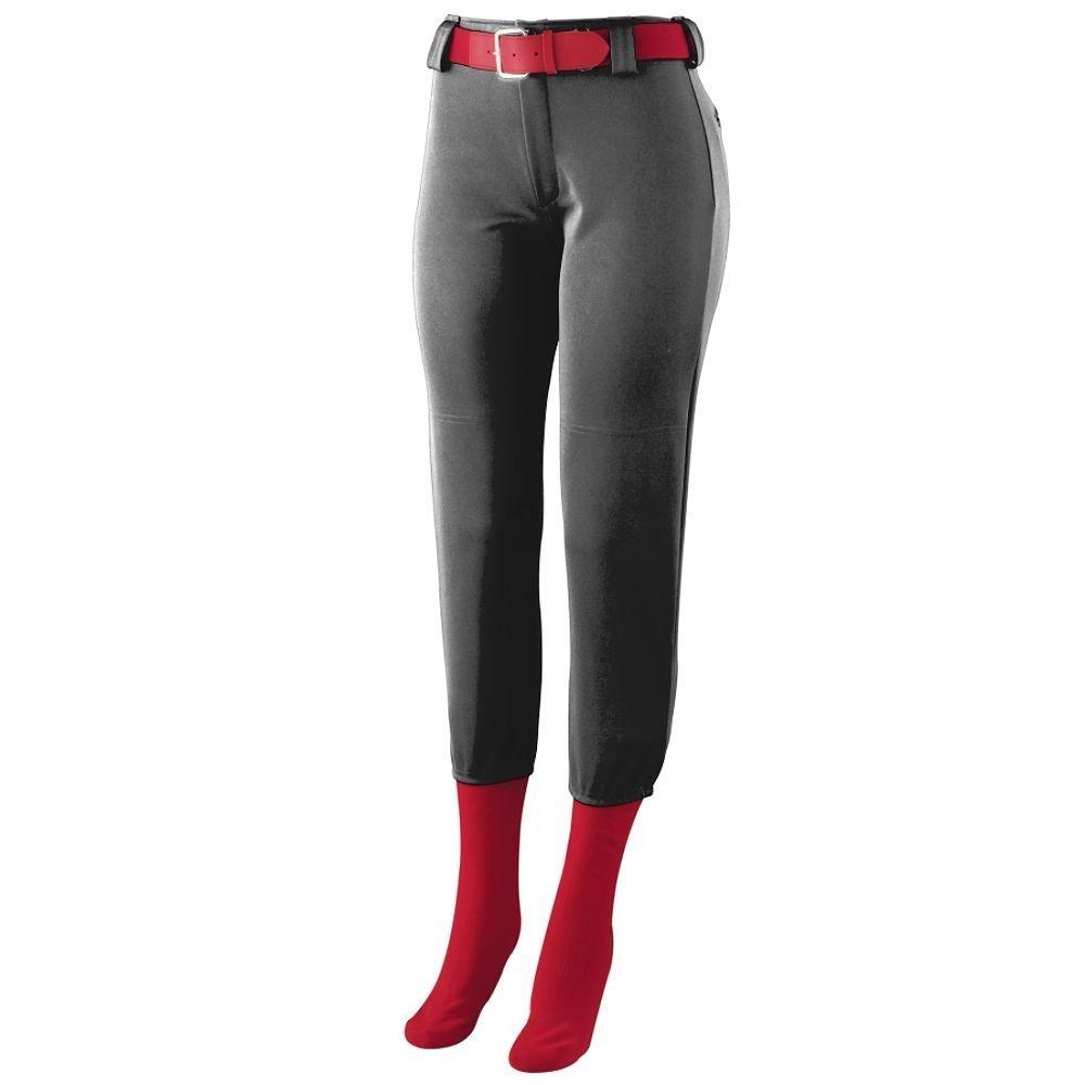 Augusta Sportswear Big Girl 's真鍮ジッパーフライパンツ B00GK5PBE4 Medium|ブラック ブラック Medium