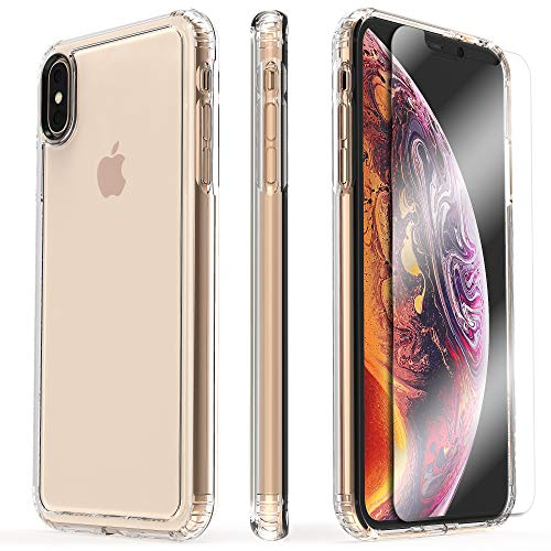 - SaharaCase Crystal Series & Glass Screen Protector Kit ShockProof Transparent - Apple iPhone XS MAX 6.5