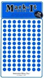 """Medium 1/4"""" removable Mark-it brand dots for maps, reports or projects - blue"""