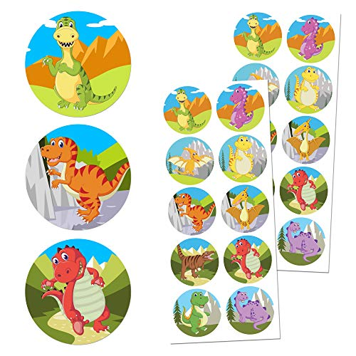 TownStix Dinosaur Children Sticker Set, 1.5