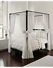 Royale Home, White Canopy Set with Top Ties and Tie Backs, Sheer, for All Bed Sizes by Royale Linens, one