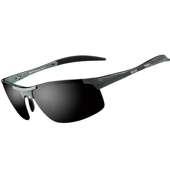 PAERDE Lunettes de soleil homme Lunettes de sport polarisées - Lunettes de conduite avec monture en métal Incassable - 100% anti UV400 0XT85Q