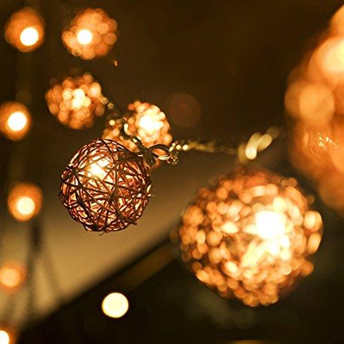 Outdoor Rattan Ball Lights in US - 7