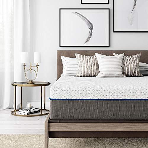 Signature Sleep Flex 12-Inch Charcoal Gel Memory Foam Mattress, Queen Size