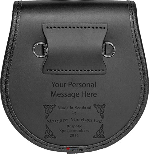 McCorquodale Semi Sporran Fur Plain Leather Flap Scottish Clan Crest by iLuv (Image #4)