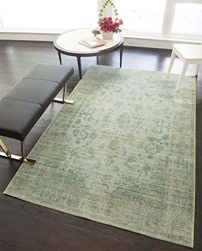 Rugs America RA25385 Power Loomed Area Rug, 5-ft 0-in x 8-ft 0-in, Green