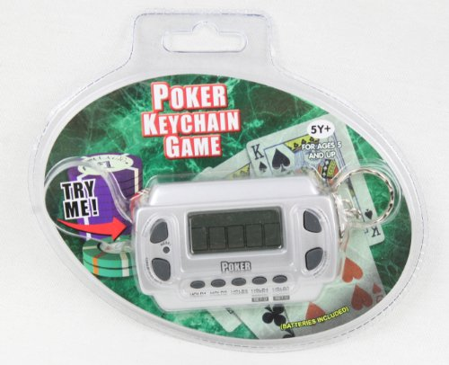 Electronic Poker Key Chain Game with Sound and Keychain (Sudoku Keychain Game)