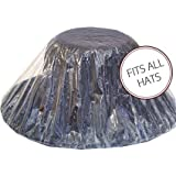 Hat Protector,clear Plastic with Elastic for a Perfect Fit,one Size Fits All.