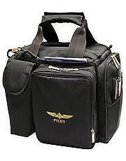 Design 4 Pilots Brand Pilot Bag Cross Country Flight Bag Black