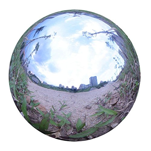 Durable Stainless Steel Gazing Ball, Hollow Ball Mirror Globe Polished Shiny Sphere for Home Garden (10 ()