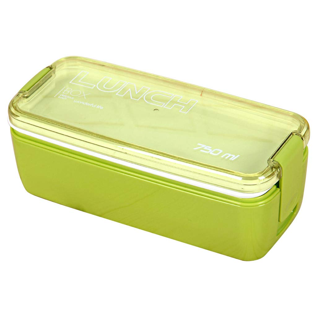 NUWFOR Microwave Lunch Box Picnic Food Fruit Container Storage Box for Kids Adult