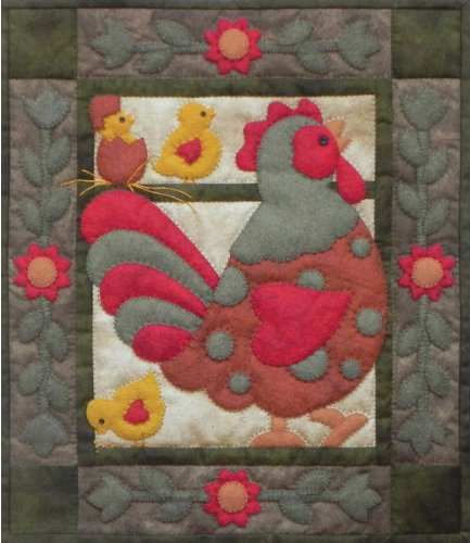 Rachel's Of Greenfield - Spotty Rooster Wall Quilt Kit-13''X15'' by Rachel's Of Greenfield