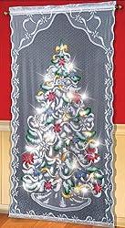 Lighted Christmas Tree Curtain Panel