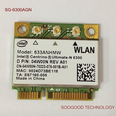 Ultimate-n 6300AGN For Intel Half Pci-e Card 633anhmw 802.11a/b/g/n 2.4 Ghz and 5.0 Ghz Spectra 450 Mbps Support WIDI by IDC