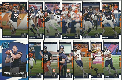 2017 Panini Donruss Football Chicago Bears Team Set 12 Cards W/Rookies Mitchell Trubisky Rookie Card