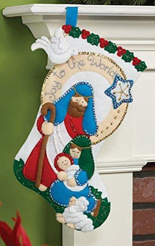 Bucilla Felt Applique Christmas Stocking Kit: Joy to the World