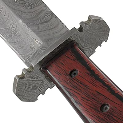 Peacemaker Damascus Hand Forged Hunting Bowie Knife