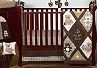 Chocolate Brown Teddy Bear Baby Boys Bedding 11pc Crib Set Without Bumper