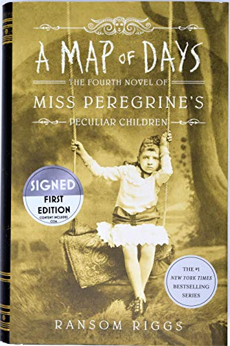 Child Star Signed - A Map of Days (Miss Peregrine's Home) AUTOGRAPHED Ransom Riggs (SIGNED BOOK)
