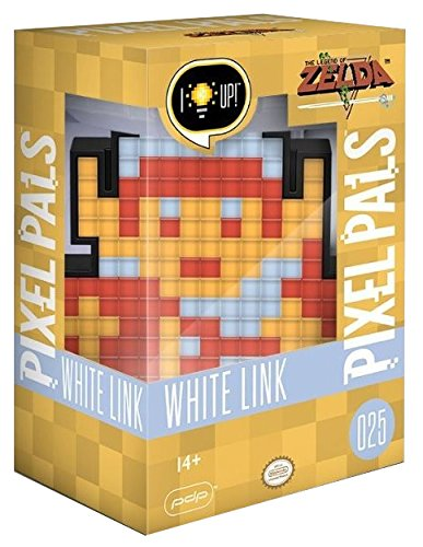 PDP Pixel Pals Nintendo White 8-Bit Link Collectible Lighted Figure 878-032-NA-WH-LNK - Not Machine Specific