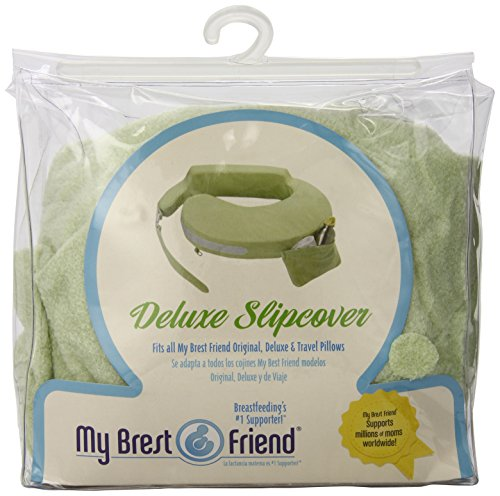 My Brest Friend Nursing Pillow Deluxe Slipcover - Machine Washable Breastfeeding Cushion Cover - Pillow not Included, Green