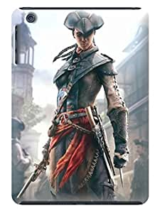 Air cushioned bumper tpu case with scratch resistant clear back panel for ipad mini of Assassin's Creed in Fashion E-Mall