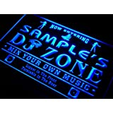 qh-tm Name Personalised Custom DJ Zone Music Turntable Disco Bar Beer Neon Sign