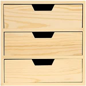 JIANGU Madera Maciza de Madera, Simple, Oficina, Multi cajón Caja ...