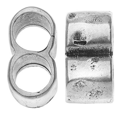 Silver 2 Strand Slider - 4