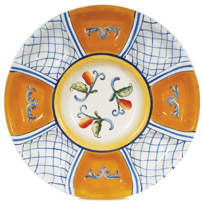 Fitz and Floyd 63-478 Chip & Dip Serving Bowl 13.75 Multicolor