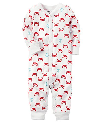 Carter's Baby Boys' Cotton Snap-Up Footless Sleep & Play (Newborn, Crabs) by Carter's