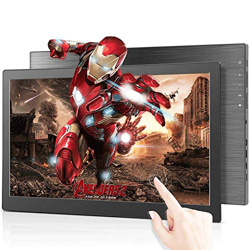 15.6' Portable Gaming Monitor USB Touchscreen Monitor,Second Screen Full HD 1920x1080 IPS 2K 60Hz 3ms with Dual USB Type-C/1xMini HDMI&DP Port USB Powered Screen