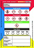 Globally Harmonized System (GHS) Secondary Container Labels, 3.5 x 2.5 Inches, 100 Labels per Roll, Adhesive, Glossy Finish