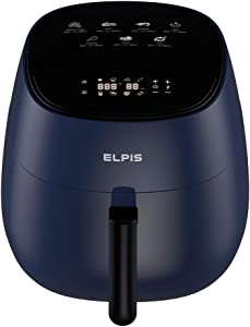 Elpis Ceramic Air Fryer 1400-Watt 4.3-QT 8-in-1 LED Digital Touchscreen (Navy)