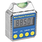 SODIAL(R) Digital Angle Gauge Mini Protractor horizontal Bevel Box LCD Display Clinometer with Spirit Level + Installed Battery Best For Circular Saws Miter Saws
