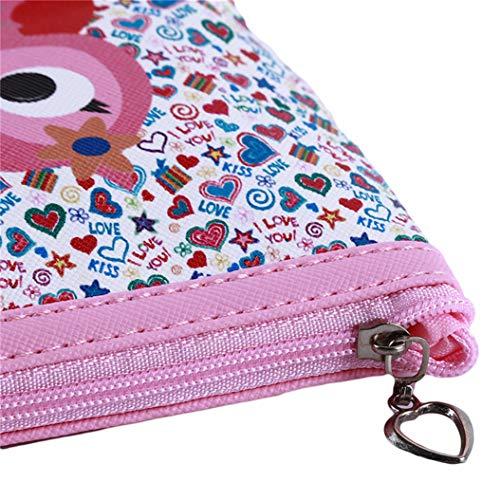 LZIYAN Cute Coin Purse Cartoon Owl Pattern Coin Purse Clutch Bag Portable Small Wallet With Zipper Storage Bag Creative Gift For Women,4# by LZIYAN (Image #5)