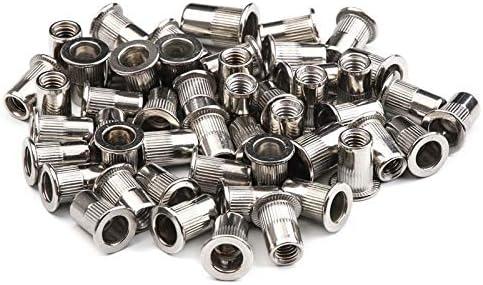 zision tool 30Pcs 1//4-20 Stainless Steel UNC Rivet Nuts Rivnut Assortment Kit