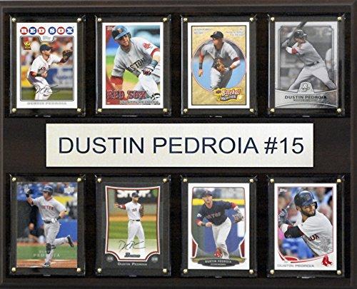 MLB Boston Red Sox Dustin Pedroia 8-Card Plaque, 12 x 15-Inch