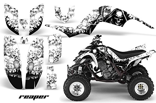 01-2005 ATV All Terrain Vehicle AMR Racing Graphic Kit Decal REAPER WHITE (Yamaha Atv Graphics Kit)