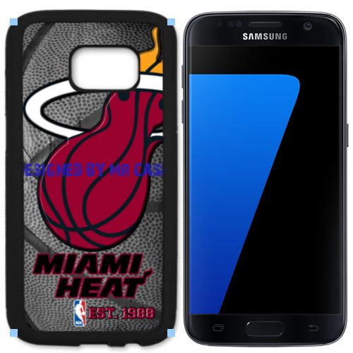Heat Miamii Basketball Black Samsung Galaxy S7 Case by Mr Case