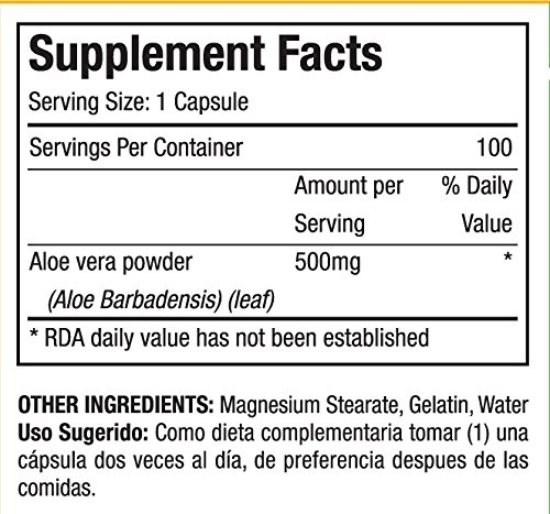 Amazon.com: Capsulas de Savila 500mg. Set de 2 frascos con 100 capsulas c/u. Efectivo contra ulceras, agruras, mala digestion, colitis, estreñimiento.