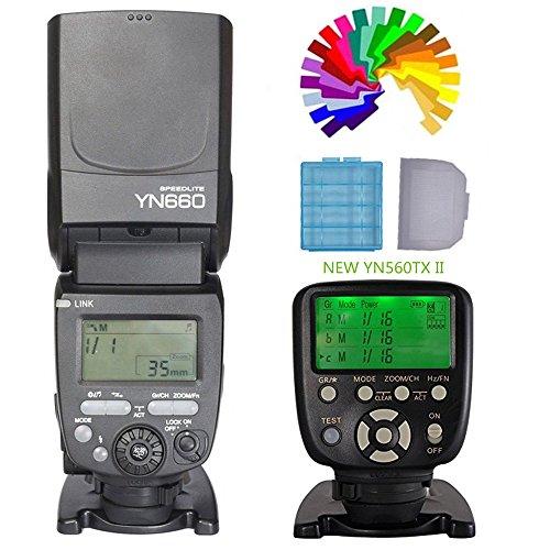 Price comparison product image YONGNUO YN660 Flash Speedilte Speedlight + YN560TXII C Flash Trigger Remote Controller For Canon EOS DLSR Cameras (Upgrade Version of YN560IV)