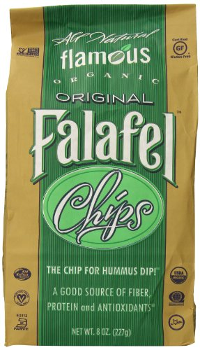 Flamous Brands Original Falafel Organic Chips, 8 Ounce (Potato Low Salt Chips)
