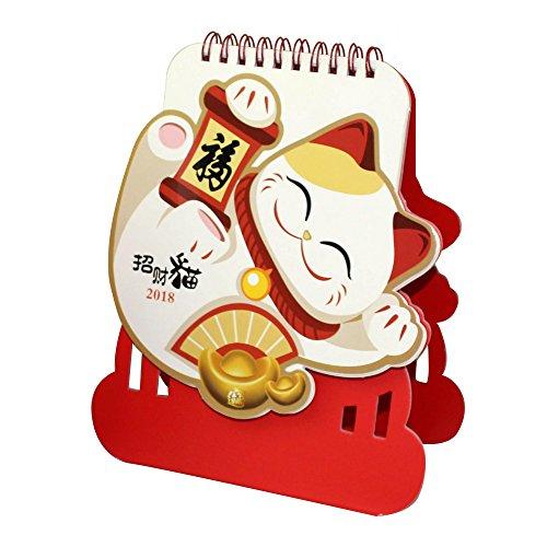 "Discount Baidercor 2018 New Year Desk Calendar Fortune Cat 6"" x 4"""