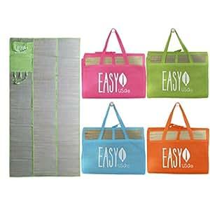 Amazon.com : Easy USA Beach Folding Straw Mat (Pink