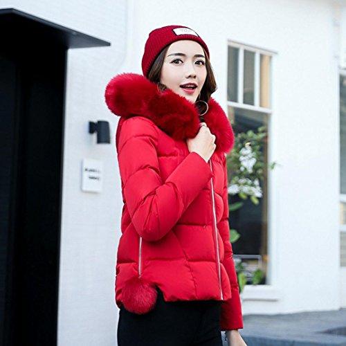Red Slim Lookatool Casual Parka Down Winter Women Overcoat Thicker Coat Jacket S6xwa6